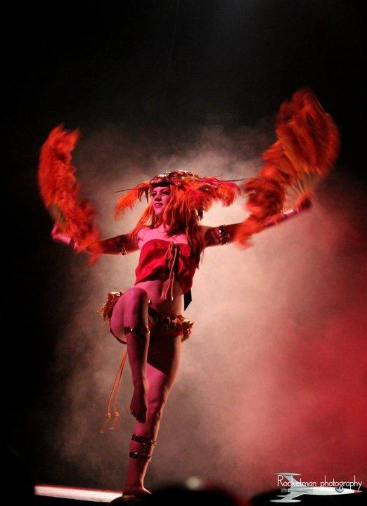 Lucille Spielufchs Feather Fan Burlesque Show